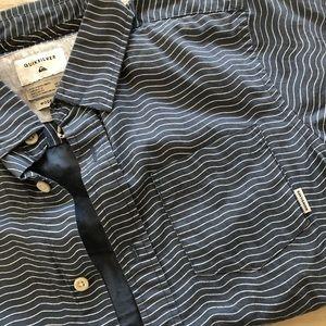 Boys quicksilver button up shirt